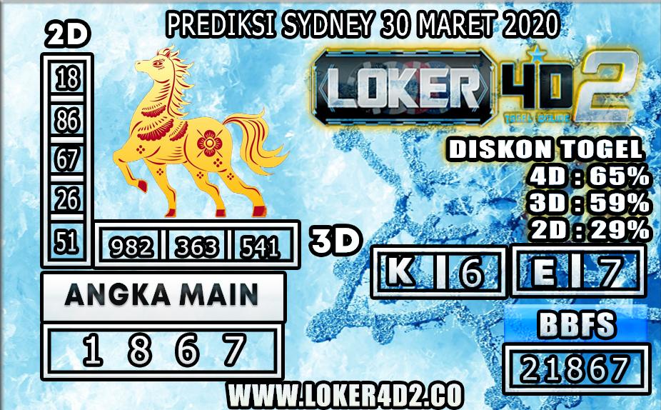 PREDIKSI TOGEL SYDNEY LOKER4D2 30 MARET 2020