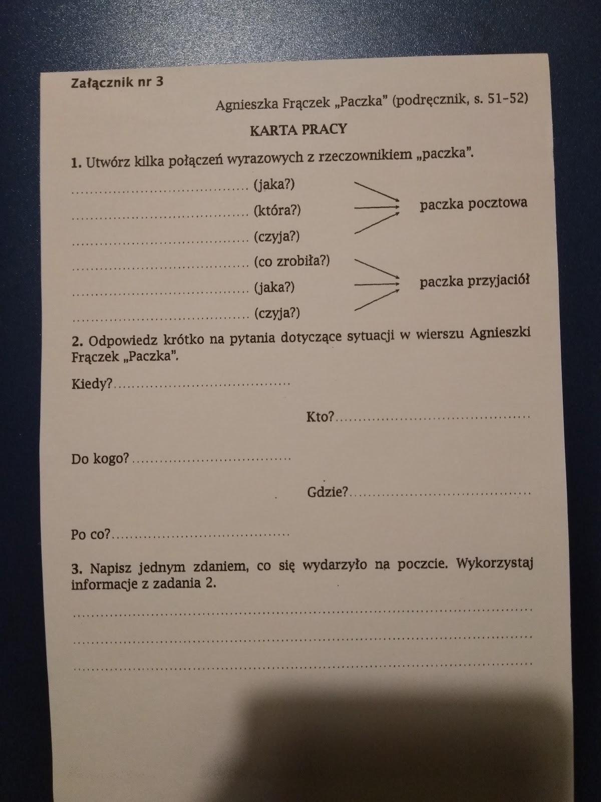 Szkoła Polska W Waterford J Polski Kl4b Lekcje Z 18