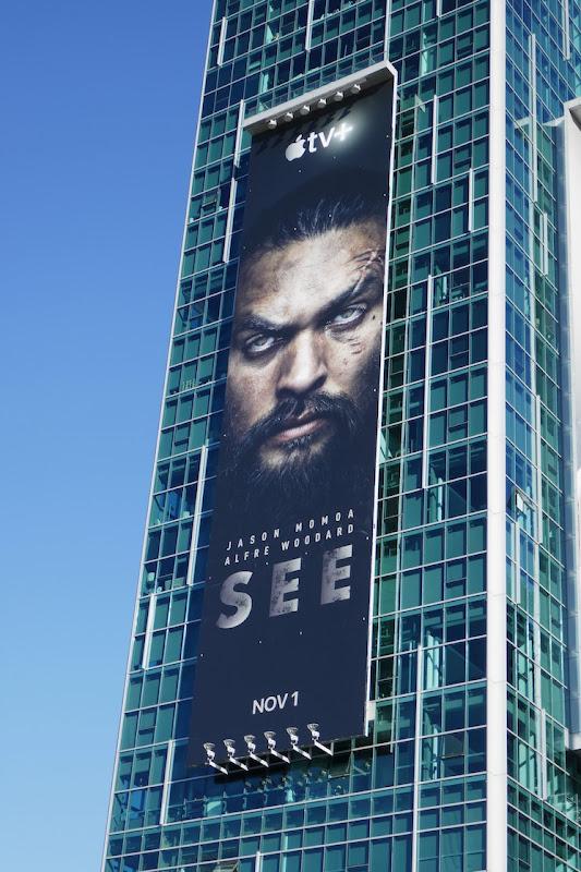 Jason Momoa See Apple TV billboard