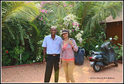 blogger Anamika With Resort Manager Michael, Candolim, Goa