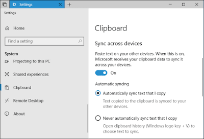 11. Activate Clipboard Windows 10