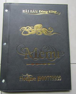 Địa chỉ sản xuất bìa menu nhà hàng tại thị trường Hà Nội