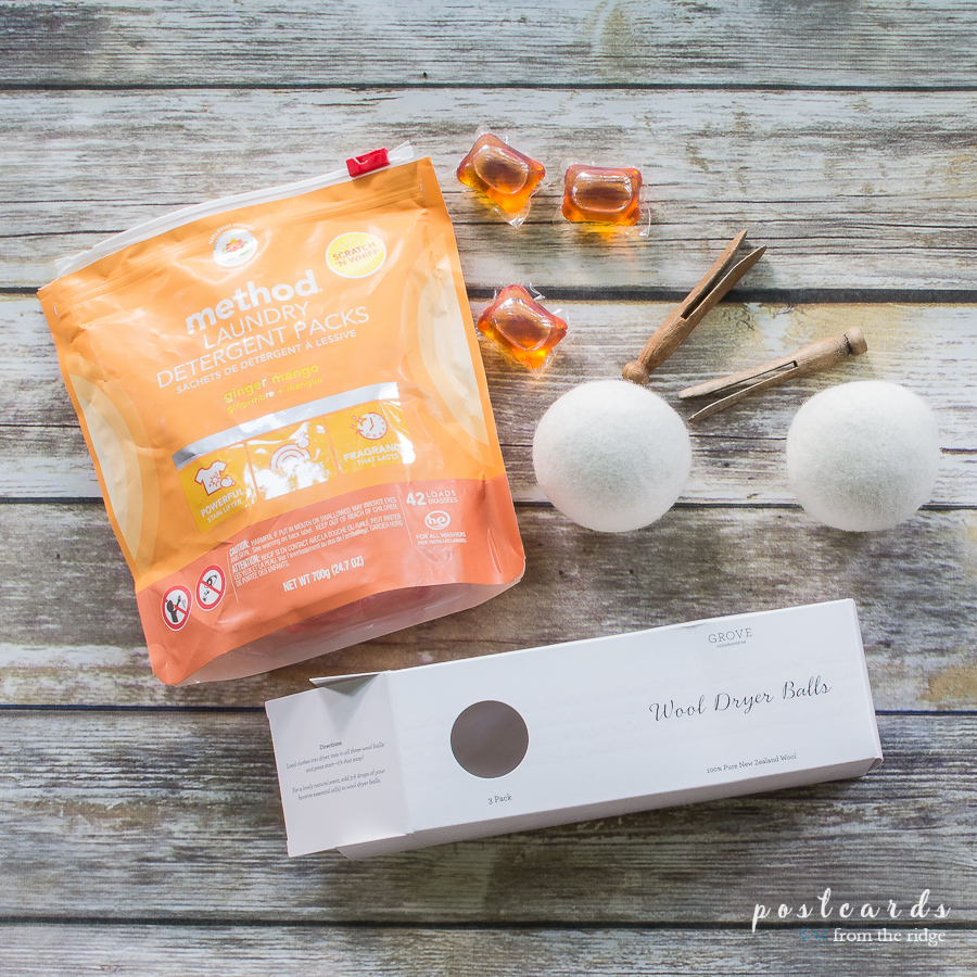 method laundry tabs and wool dryer balls