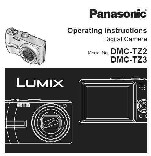 panasonic lumix dmc tz3 manual download manual pdf online Panasonic DMC TZ3 Charger Panasonic Lumix DMC-GF1