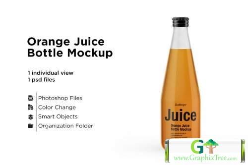 Orange Juice Bottle Mockup 5436779