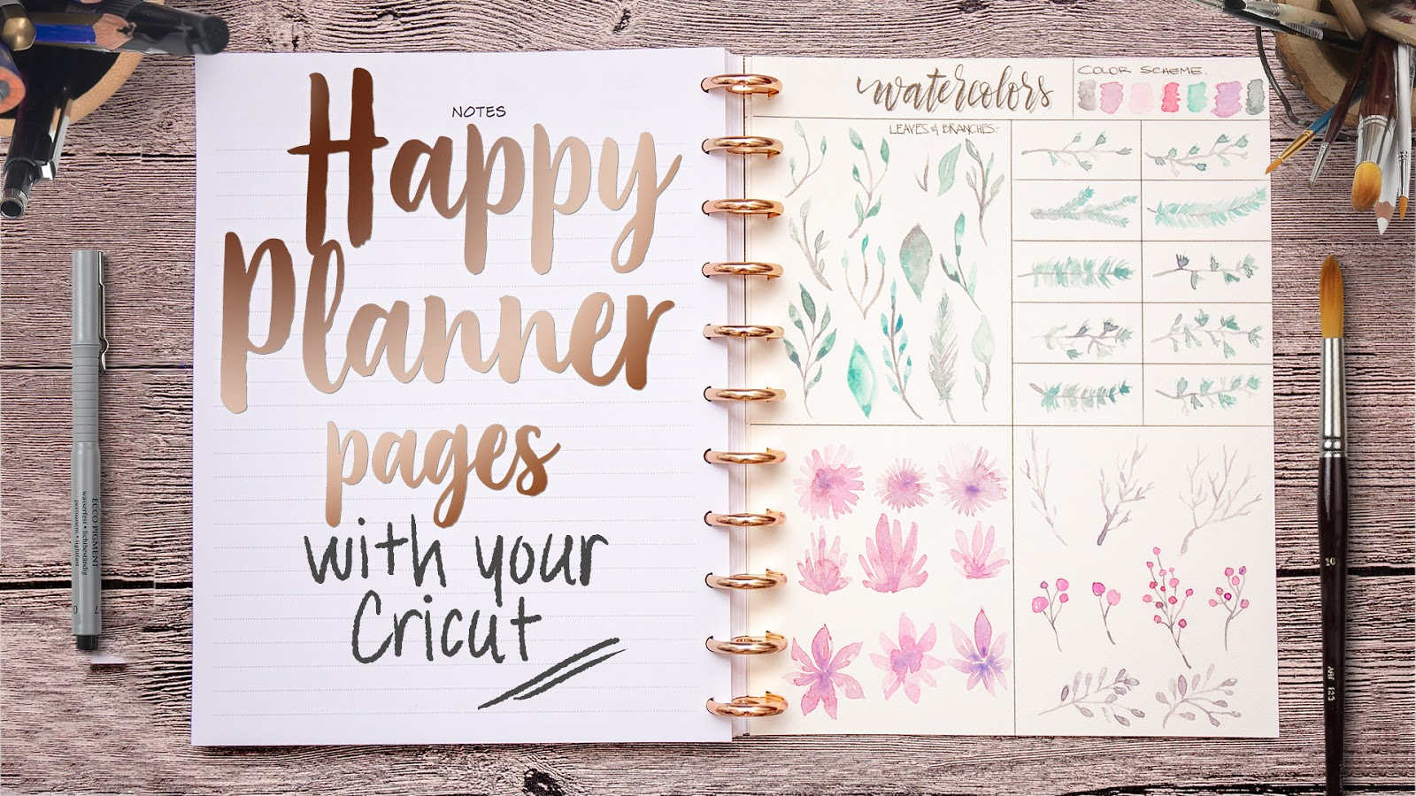Awesome SVGs: Cutting Any Size Happy Planner Pages With Your