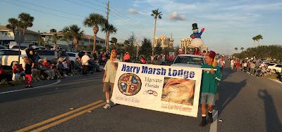 Harry Marsh Lodge Banner in Christmas Parade | Banners.com