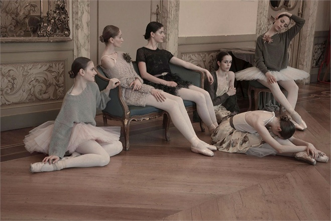 Ballerinas in Erika Cavallini for Vogue Italy seen on Hello Lovely