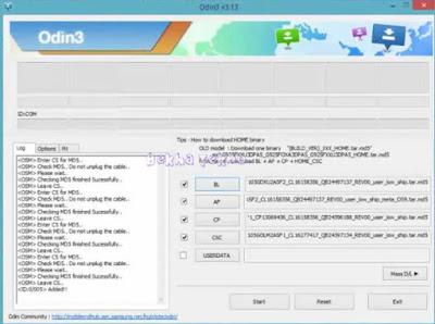 Tutorial Cara Flashing Samsung A105G Via Odin Menggunakan Firmware Full Repair Android Pie