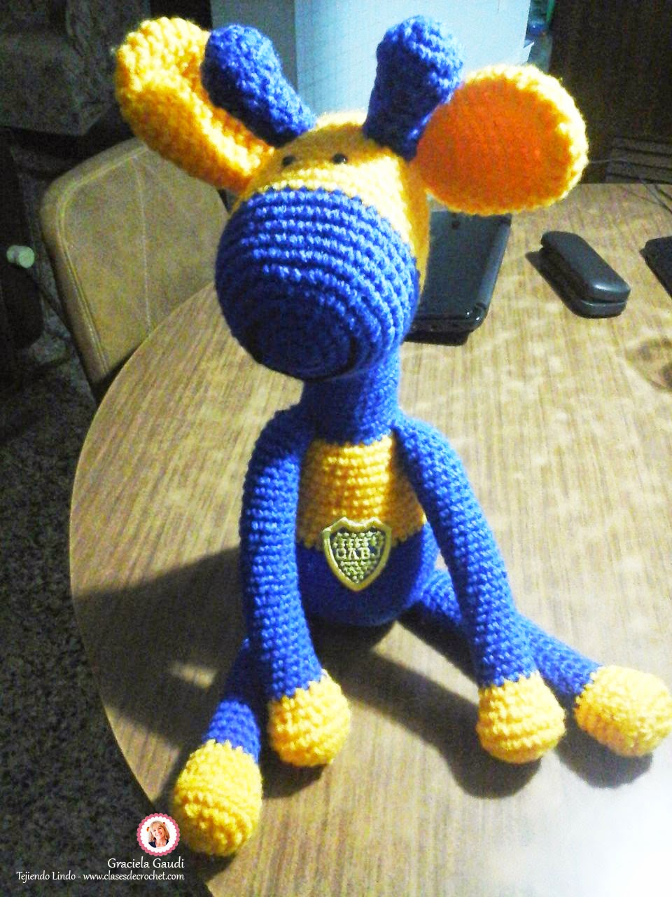 clases crochet, amigurumis, jirafa crochet