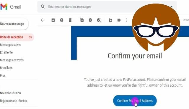 قم بتاكيد البريد الالكتروني- انشاء حساب paypal