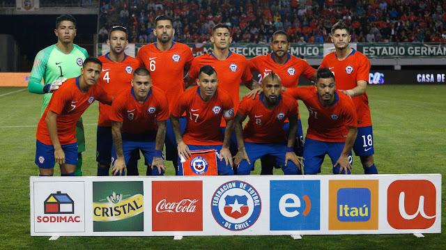 Formación de Chile ante Honduras, amistoso disputado el 20 de noviembre de 2018