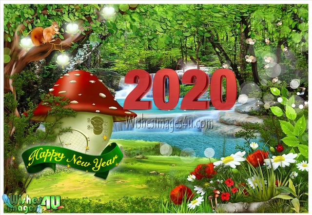 Happy New Year 2020 3D Photo Greetings