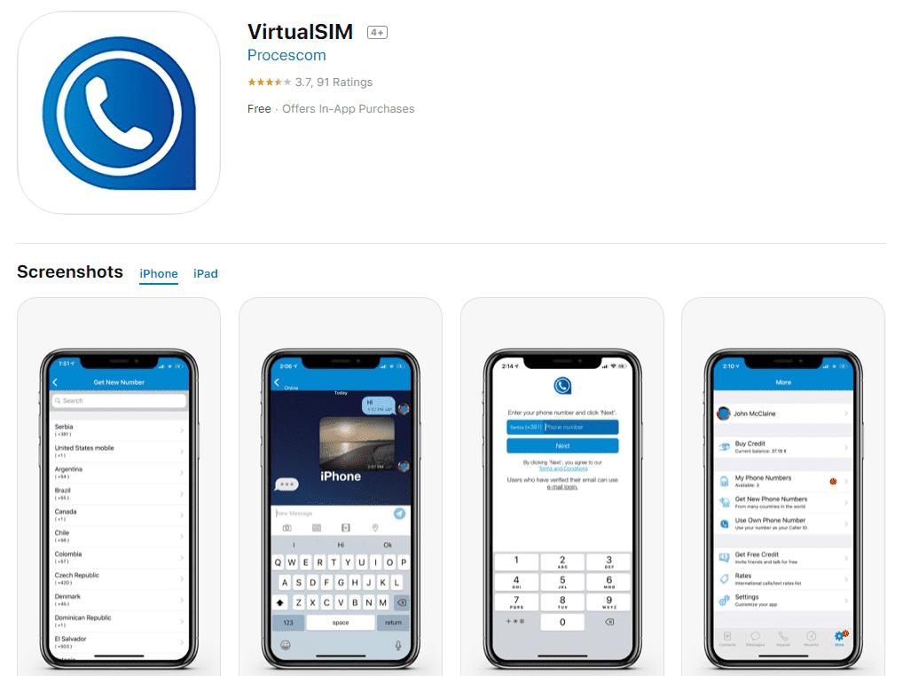 5- تطبيق Virtual SIM للاندرويد والايفون