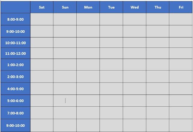 طريقة تنظيم الوقت للمذاكرة والعمل