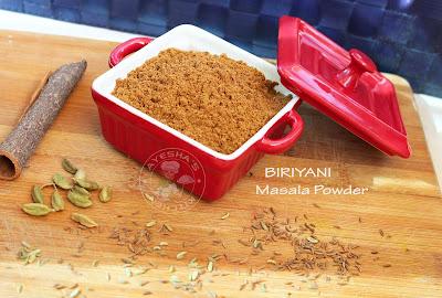biryani masala powder home made biryani recipe garam masala powder ayeshas kitchen recipes chicken biryani masala powder
