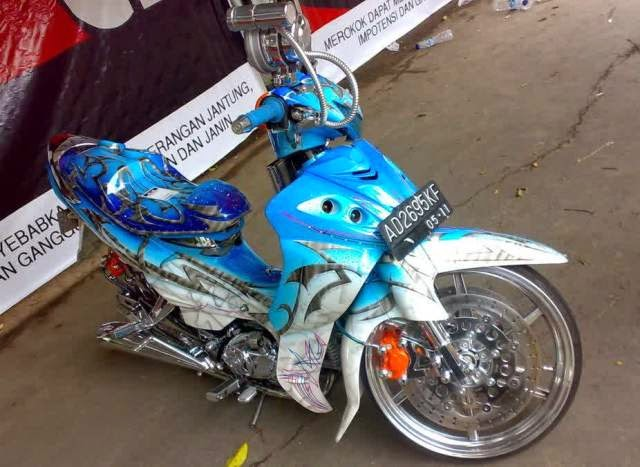 Modifikasi Motor Yamaha Jupiter Z 2010 Full