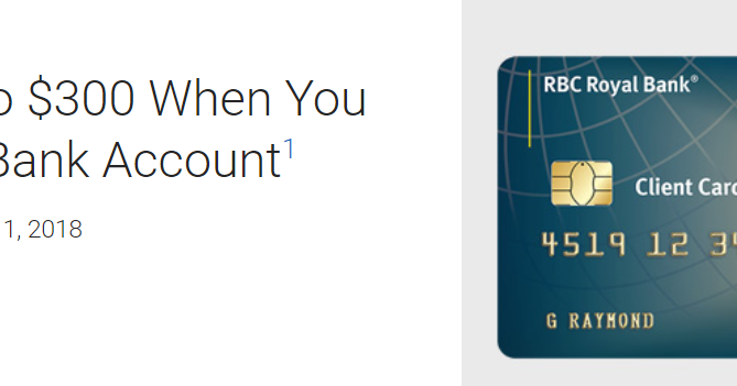 Canadian Rewards: RBC: Get up to $300 When You Open a Bank