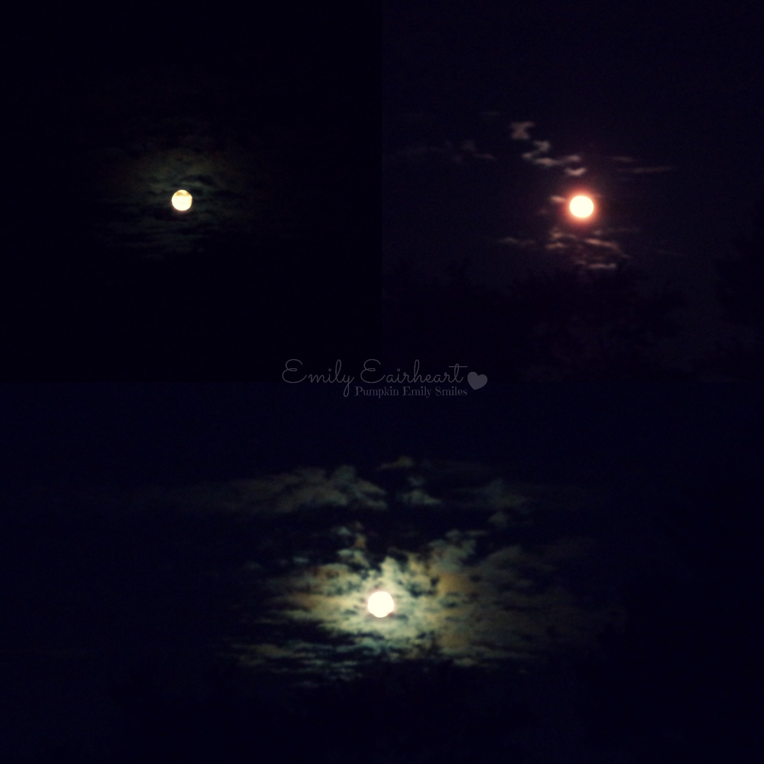 Collage of three moons