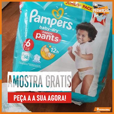 Amostras Grátis - Solicite Amostras de Fraldas Pampers