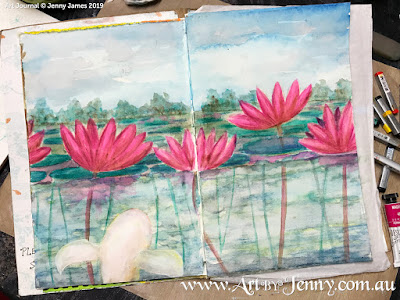 Haiku Watercolour Painting by Jenny James - work in progress