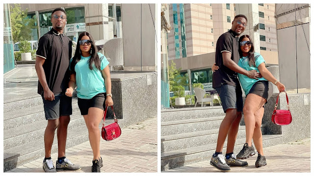 Love is in the air! Adeniyi Johnson shares romantic photos of him and his wife (Photos)