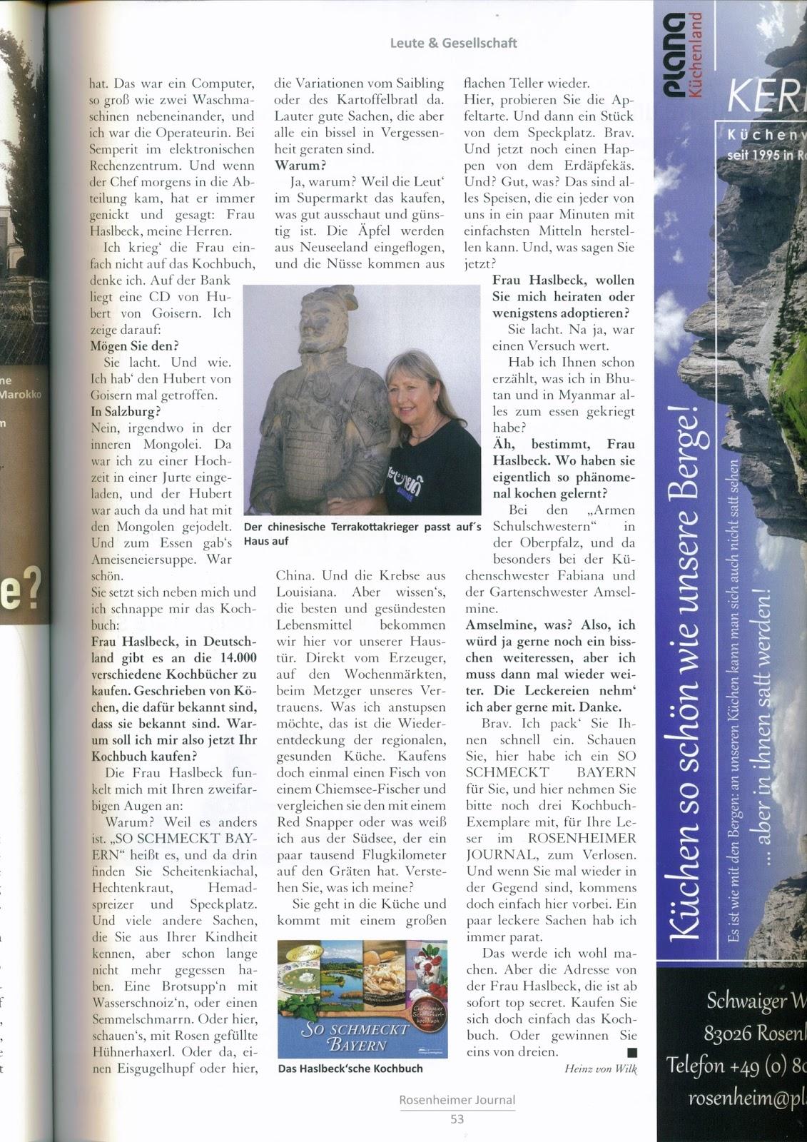 Meine Reise Um Diewelt Artikel In Der Zeitschrift Rosenheimer