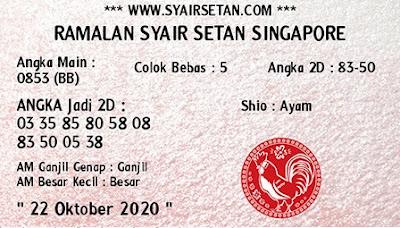 Kode syair Singapore Kamis 22 Oktober 2020 197