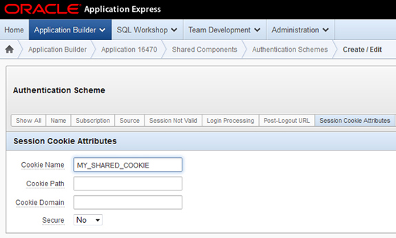 Oracle APEX, Allowing users to switch Applications without