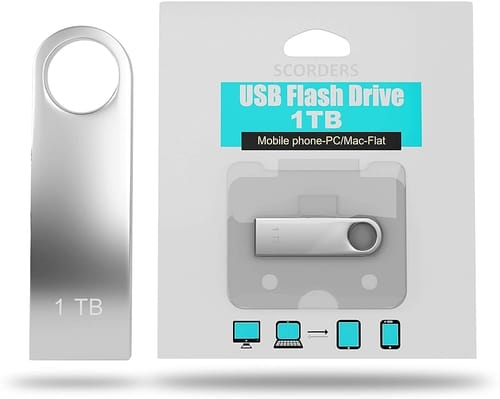 Review SCORDERS 1 TB High-Speed USB Flash Drive