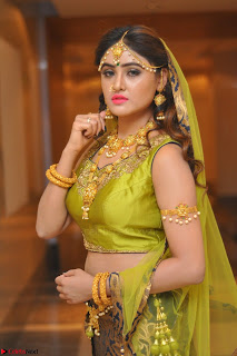 Sony Charishta in Green Choli Ghagra Transparent Chunni Ethnic Wear March 2017 065.JPG