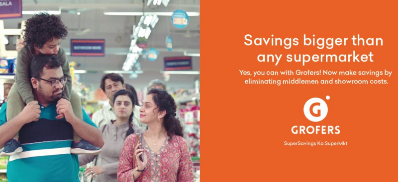 Grofers Offer Earn Free Items by referring Friend