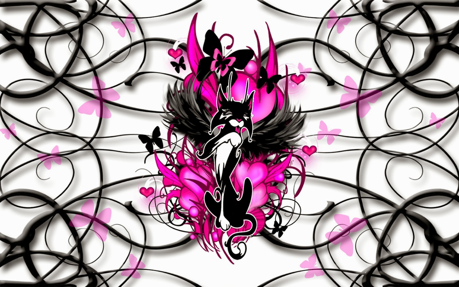 girly gothic backgrounds and wallpaper - photo #12
