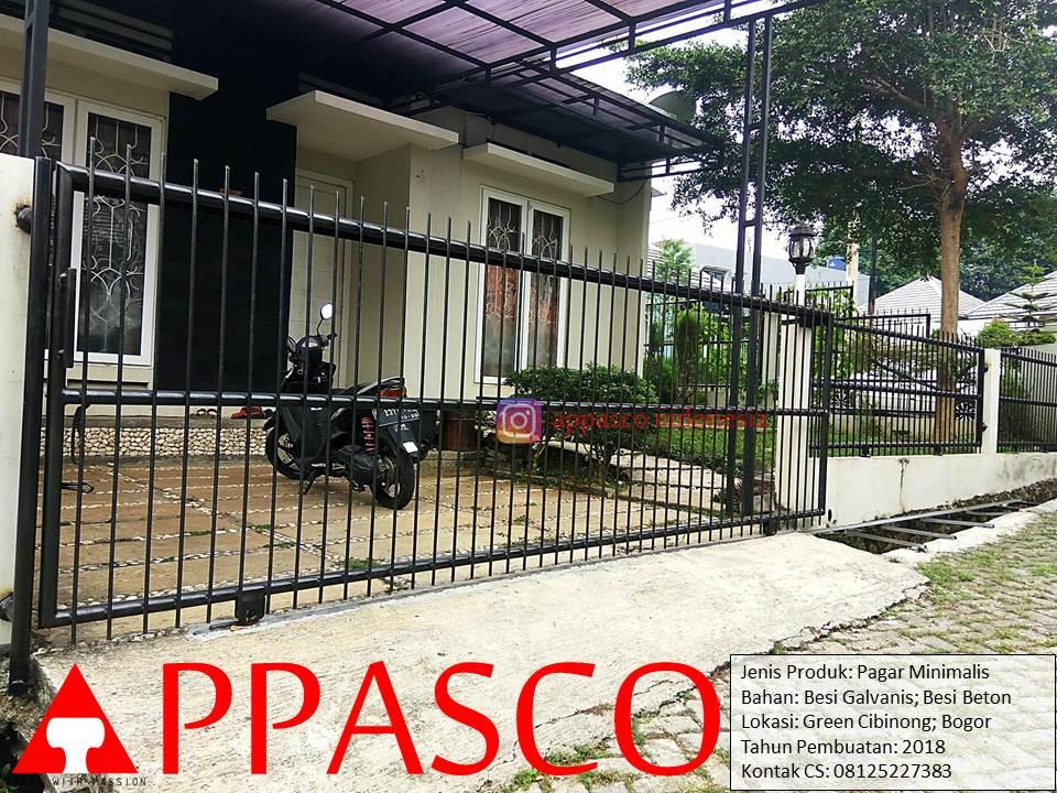 Pagar Minimalis Besi Beton di Rumah Minimalis Green Cibinong Bogor