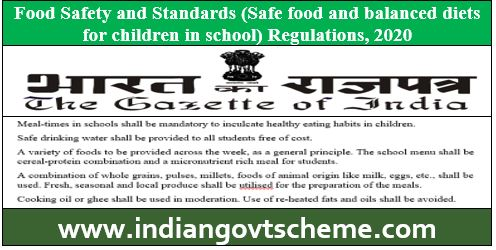 Food Safety and Standards