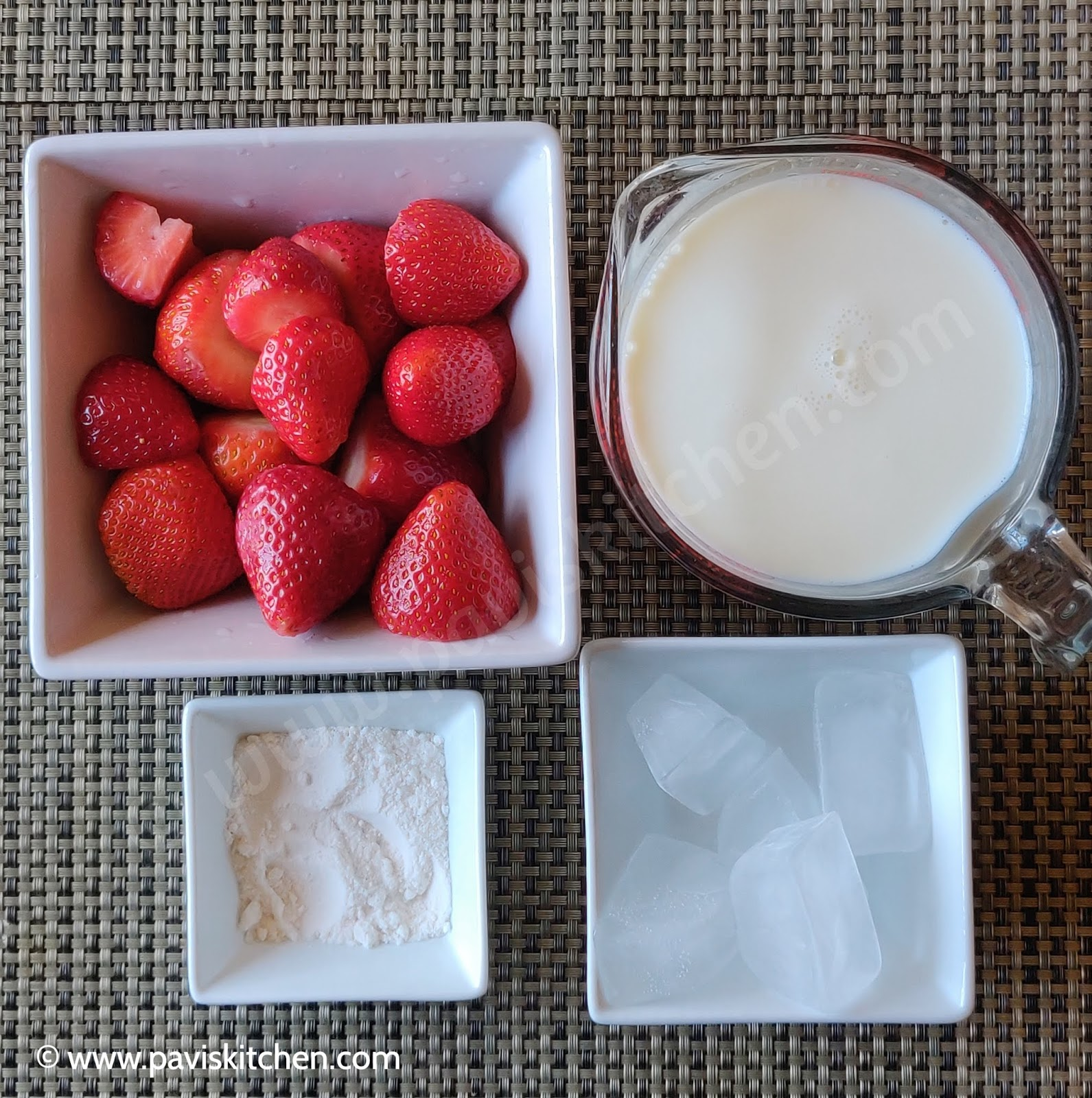 Homemade Healthy Strawberry Milkshake Recipe | Easy Fresh Strawberry Milkshake