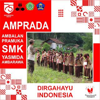 Ucapan HUT RI Ke 75 Pramuka SMK Yasmida Ambarawa