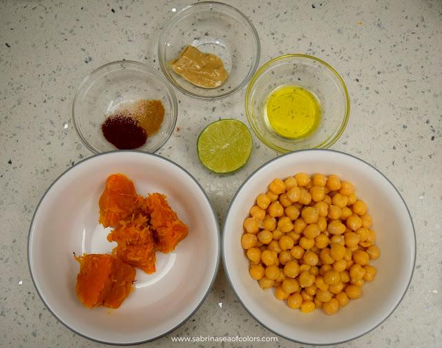 Hummus de calabaza ingredientes