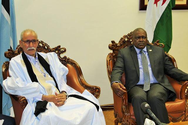 الرئيس الصحراوي ابراهيم غالي يستقبل من قبل نظيره البوتسواني وقرارات هامة تتوج محادثاتهما