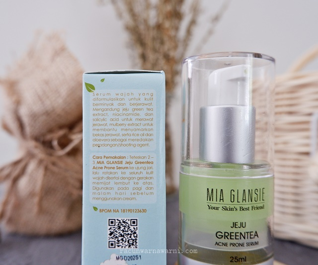 Review Serum Anti Jerawat dari Mia Glansie Jeju Greentea Acne Serum dengan Bakuchiol