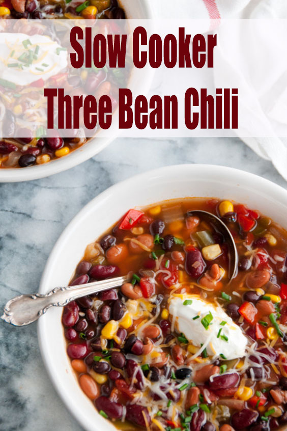 Slow Cooker Three Bean Chili