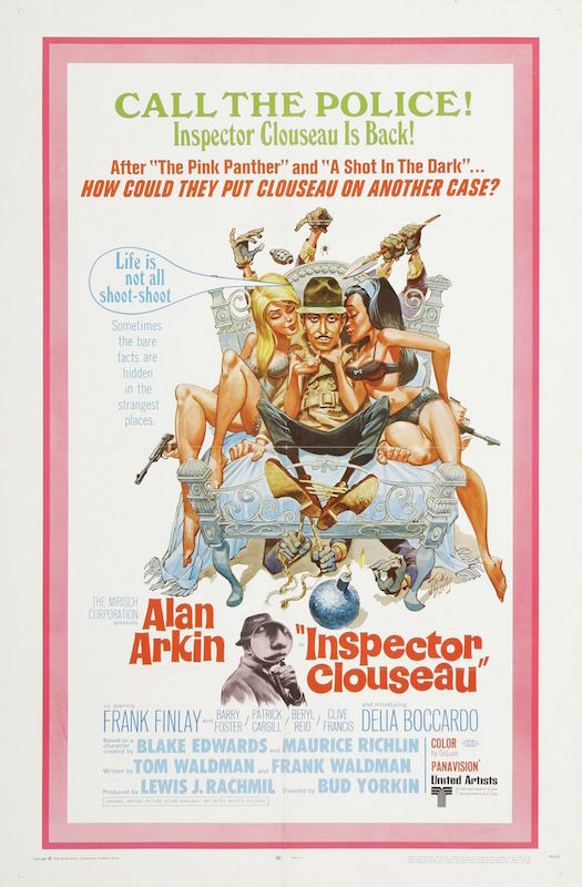 Inspector Clouseau (1968) poster, illustration by Jack Davis.