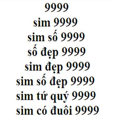 Sim tứ quý 9999