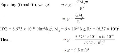 Notes of Ch 10 Gravitation| Class 9th Science - Study Rankers