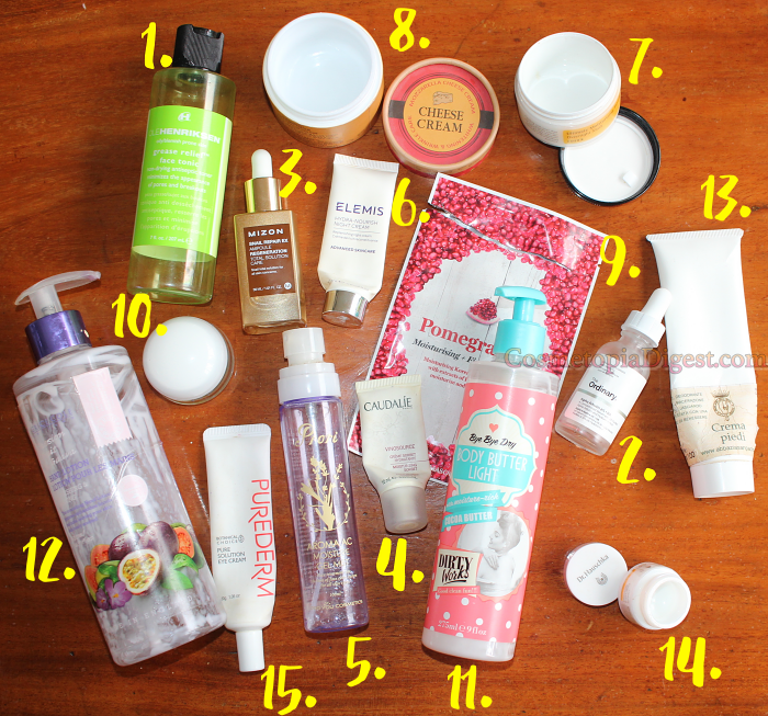 Beauty Products Emptied in May 2017