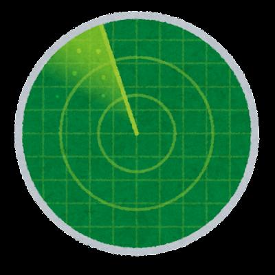 レーダー指示器のイラスト