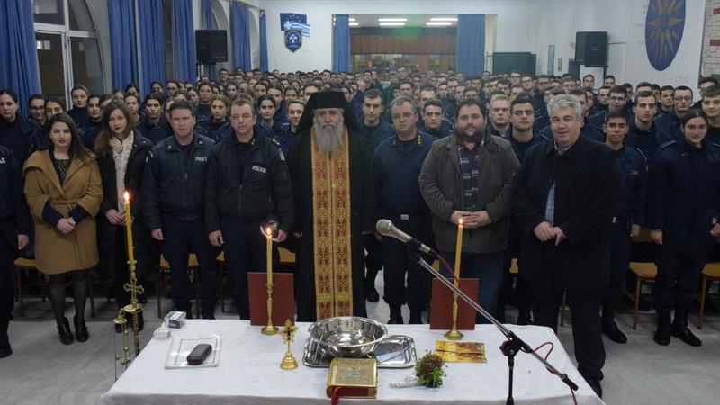 Επίσκεψη του προϊσταμένου της Θρησκευτικής Υπηρεσίας της ΕΛ.ΑΣ. στο Τμ. Δοκίμων Αστυφυλάκων Διδυμοτείχου