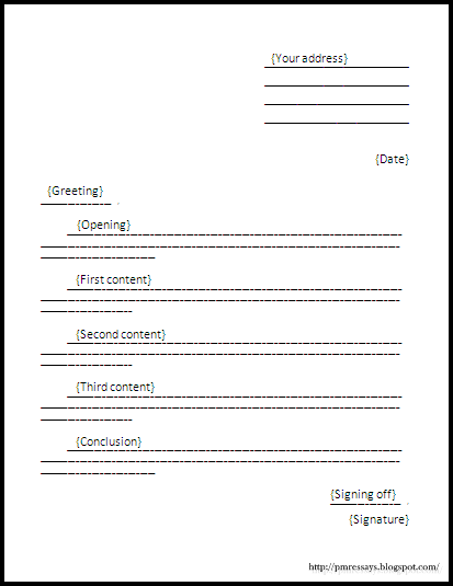 Spm English Essay Formal Letter Format