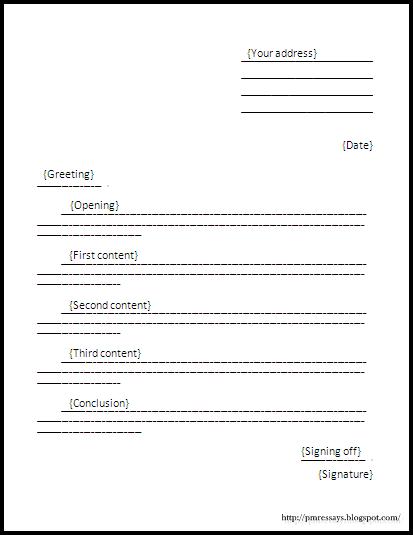 formal letter essay pmr