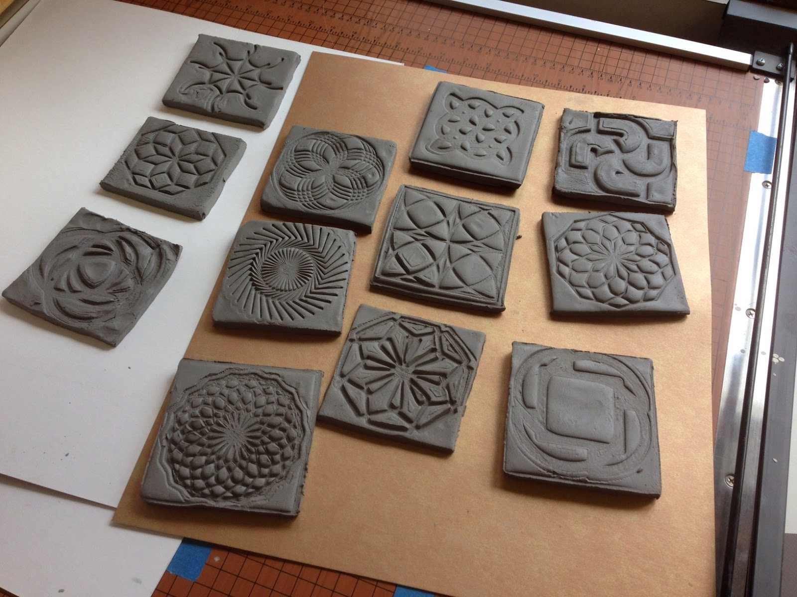 3d Printed Turtleart Stamps For Clay Tiles